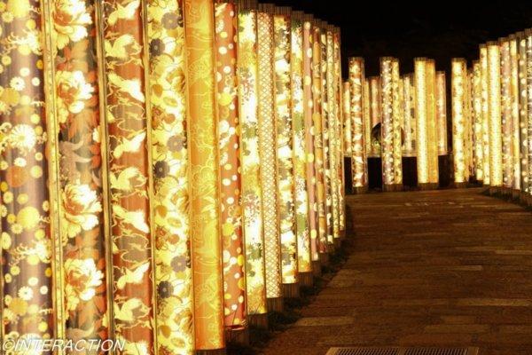 嵐山駅のライトアップ