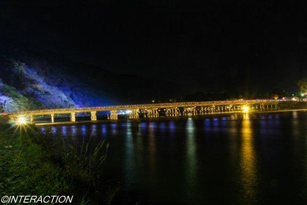 渡月橋のライトアップ