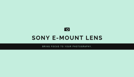 SONY E-MOUNT LENS