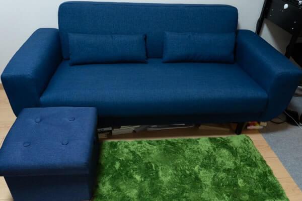 ロウヤのソファー下の収納