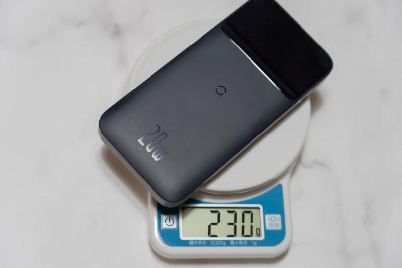 Baseus Magsafe対応モバイルバッテリーの実際の重量